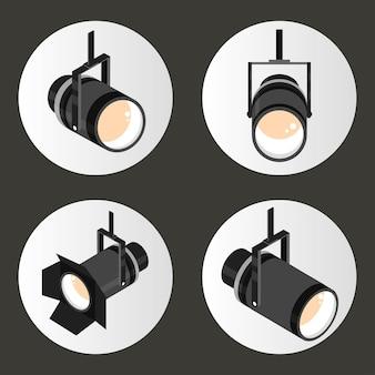Set of spotlights