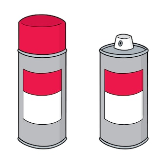 Set of spray can