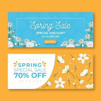 Set of spring sale banners