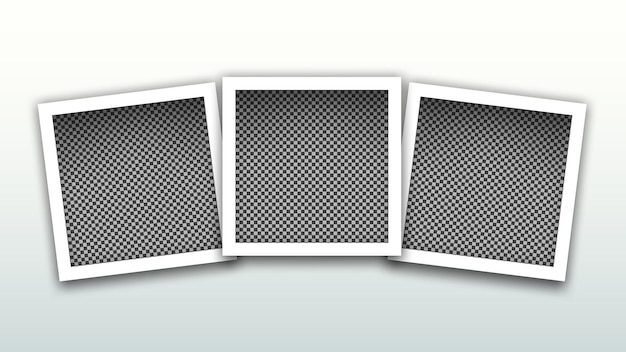 Set of square frames template