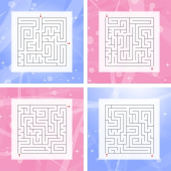 A set of square labyrinths.