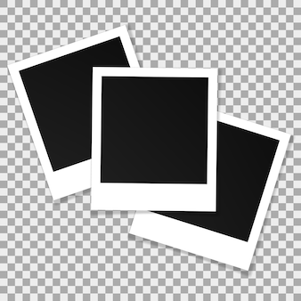 Set of square vector photo frames