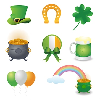 Set of st. patrick's day element