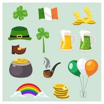 Set of st.patrick's day elements