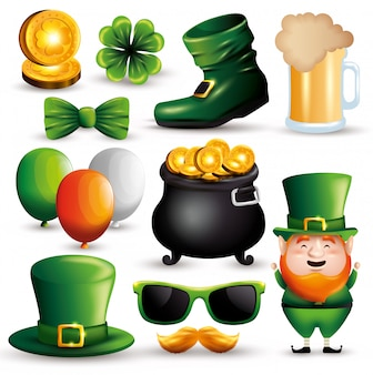 Set st patrick's day event decoration