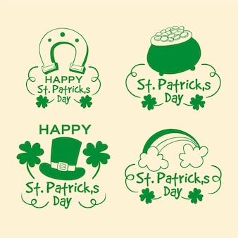 Set of st. patrick's day labels