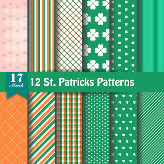 Set of st. patrick's day patterns
