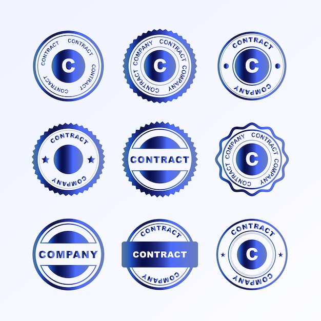 Set of stamps template vector illustration of seals