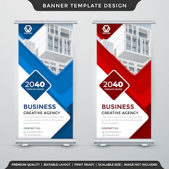 Set stand banner template design with modern and premium style