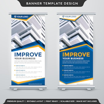 Set of stand banner template