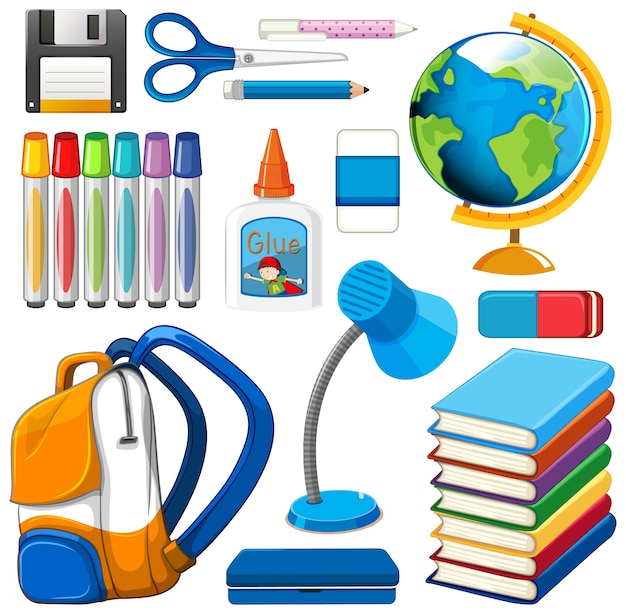 Set of stationary tools and school