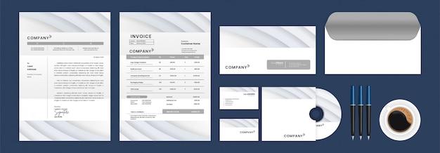 Set of stationery identity template design