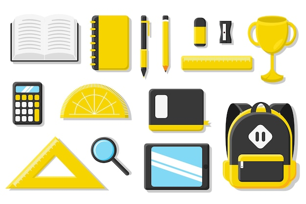 Set of stationery for school