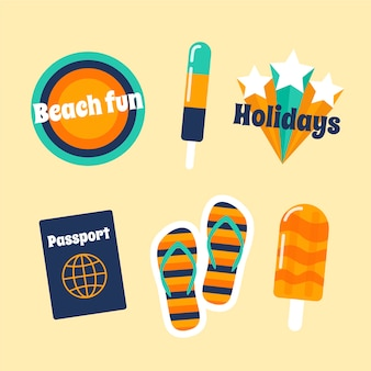 Set of stickers with traveling theme