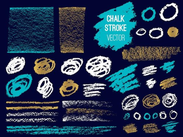 Set stroke spot blod. brush, pen, marker, chalk.