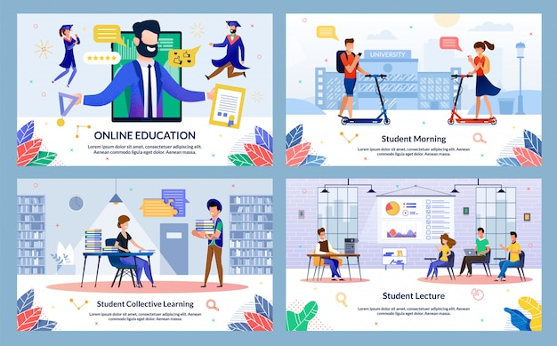 Set student collective learning, online education.
