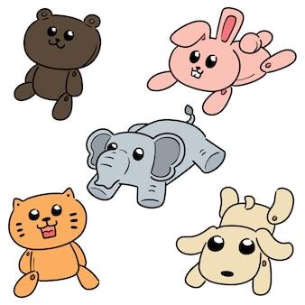 Set of stuffed animals