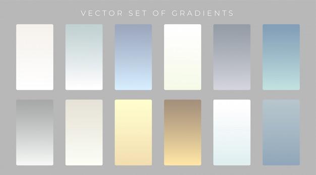 Set di design a gradienti sottili