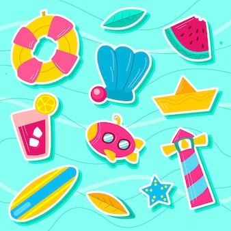 Set of summer beach holiday equipment