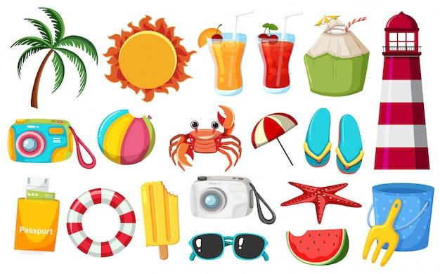 A set of summer elements