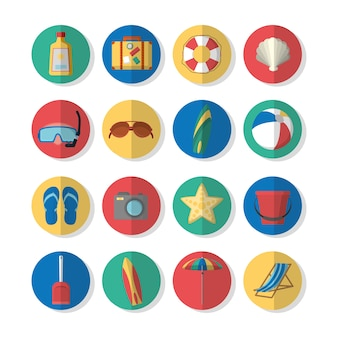 Set of summer icons collection