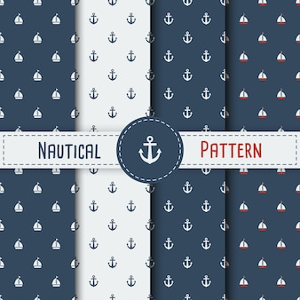 Set of summer seamless pattern with sailing boat. nautical seamless pattern with yachts for background, invitetion, backdrop, print, textile, wrapping, wallpapers, web background, cover, banner, flyer.