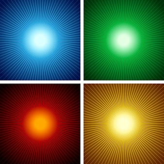 Set of sunburst background