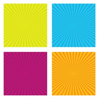 Set of sunburst ray background set