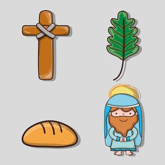 サンデイの枝をカトリックの宗教に設定する