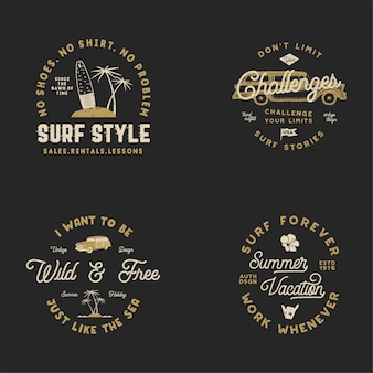 Set of surf logos