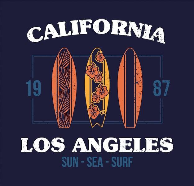 Set surfboard print