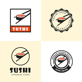 A set  of sushi logo