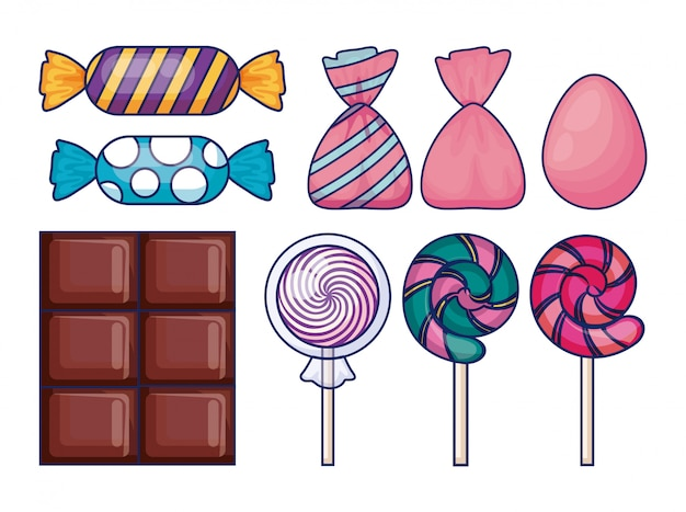 Set of sweet candies