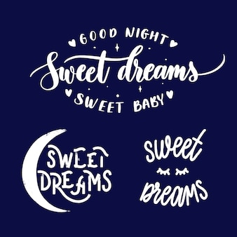 Set of sweet dreams