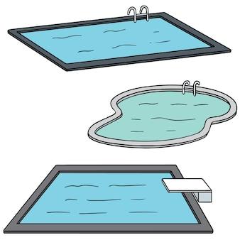 Set of swimming pool