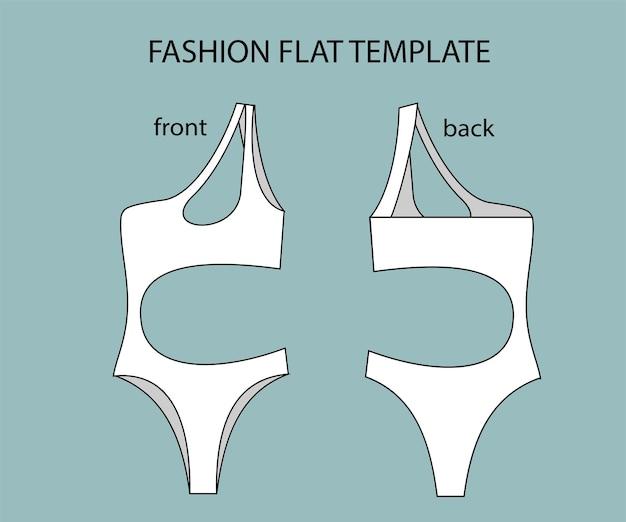 Комплект купальника вид спереди и сзади