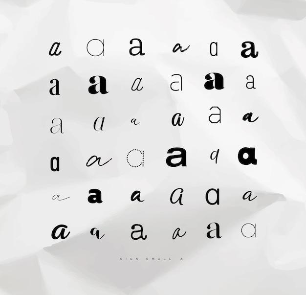 文字に記号aを設定する