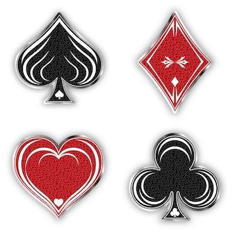 Set symbols deck of cards