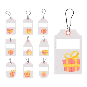 Set of tags for birthday gifts