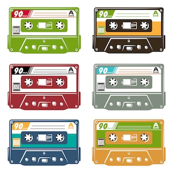 Set of tape cassette
