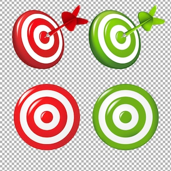 Set targets gradient mesh illustration