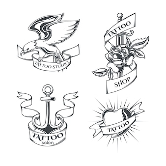 Set of tattoo emblems