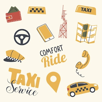 Set of taxi service elements