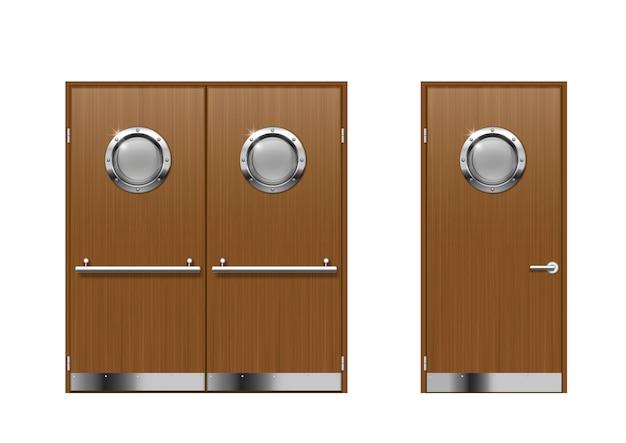 Set of technical laboratory door