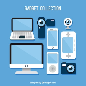 Set of technological gadgets