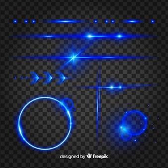 Set of technology light effects