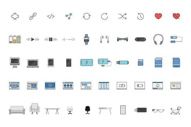 Set of technology vectors