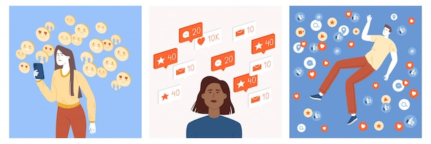 A set of teenagers who actively maintain their profile on social networks and receive feedback in the form of likes, emoticons, comments, tags, marks, new subscribers.