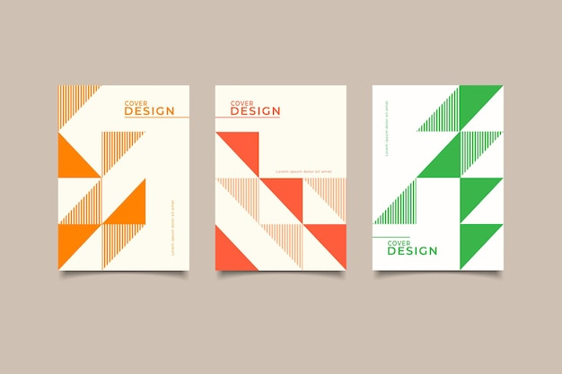Set template cover design abstract geometric
