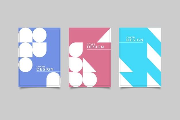 テンプレートカバーデザインの幾何学的な背景を設定します